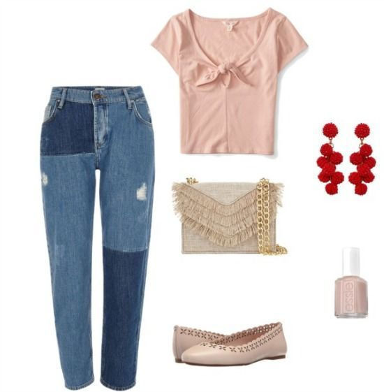 Outfit inspired by the hiplet dance movement which mixes ballet and hip hop. Jeans - River Island / Top - Aeropostale / Bag - Cynthia Rowley / Shoes - Michael Kors / Earrings - Humble Chic / Nail Polish - Essie Fashion brands featured