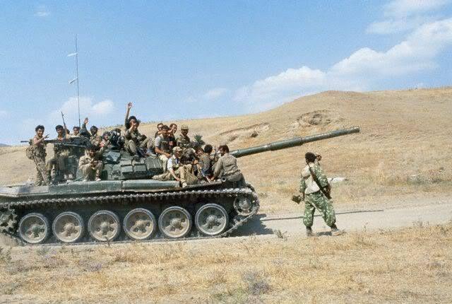 Azerbaijani Army frontlines during Nagorno-Karabakh War.