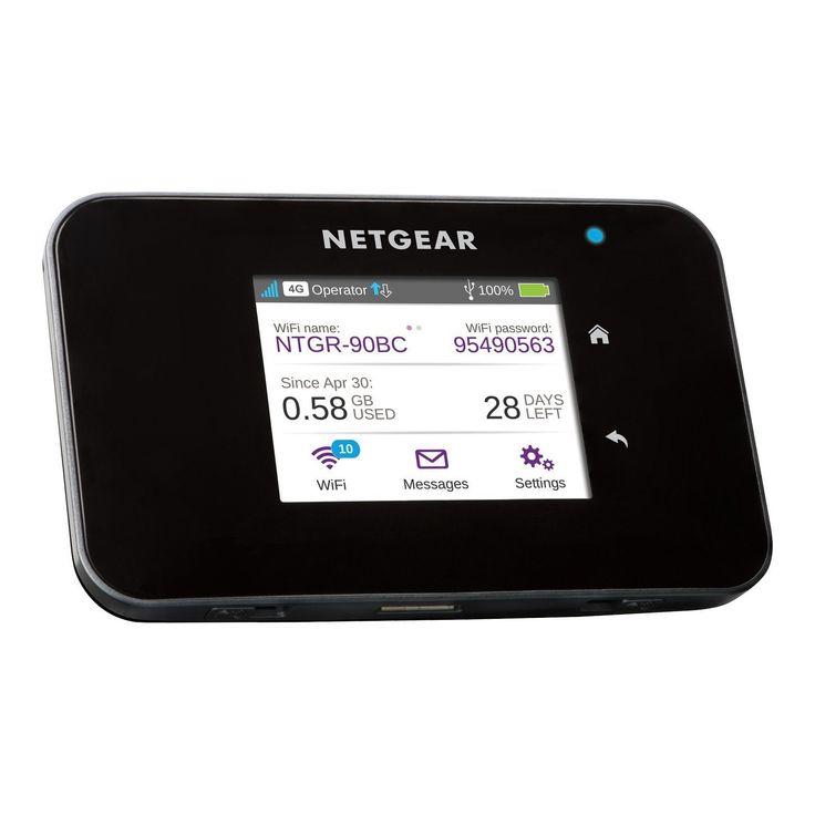 NETGEAR AirCard 810 4G LTE Mobiler Hotspot (AC810) [bis zu 15 WLAN-Geräte, bis zu 11 Std. Akku]