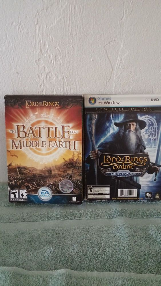 2004 The Battle For Middle Earth & The LOTR Online Mines Of Moria RPG PC Game