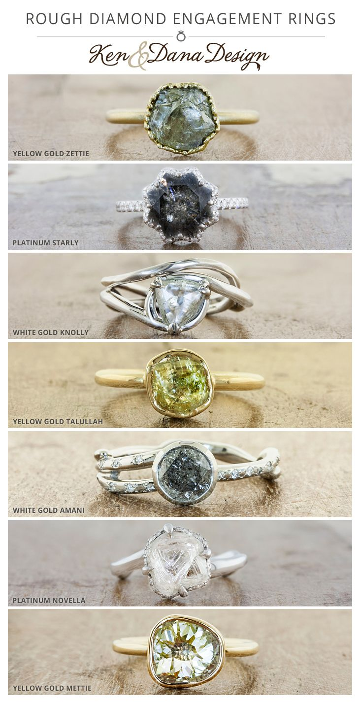 While the more unusual cuts of diamonds have been gathering momentum - A Rough Or Uncut Diamond Engagement Ring Lends A Unique And Rustic Look To An