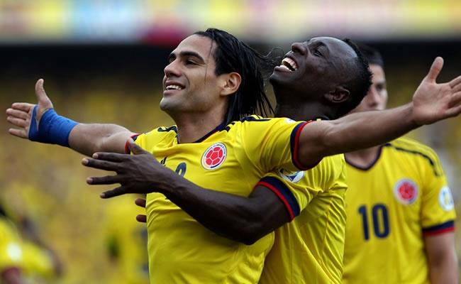 Celebración de Gol de la selección Colombia Vs Paraguay