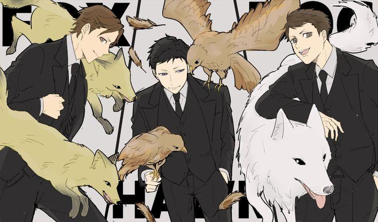 Amari, Tazaki, and Kaminaga, from Joker Game