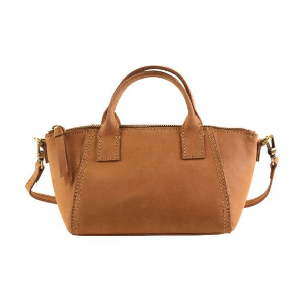 Women's Hadaki by Kalencom Eco Leather Mini Boat Bag ($90) ❤ liked on Polyvore featuring bags, handbags, brown, casual handbags, mini handbags, brown purse, mini purse, man shoulder bag and man satchel bag