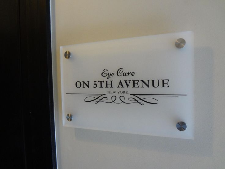 Frosted Acrylic Sign Panel With Custom Die Cut Adhesive