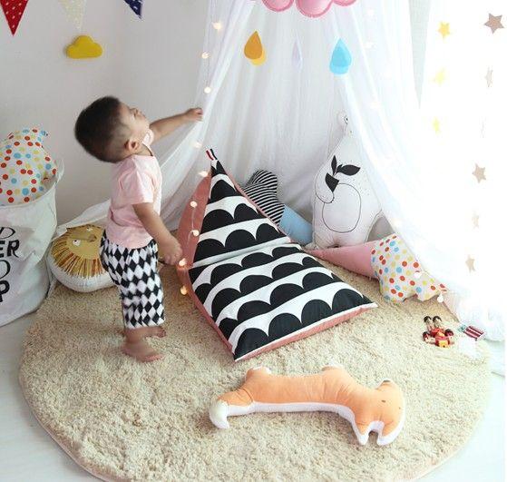 Kanapa dla dzieci/dzieci beanbag/słodkie/różowy i czarny fala/piękne krzesło/wystrój domu/przedszkole decor