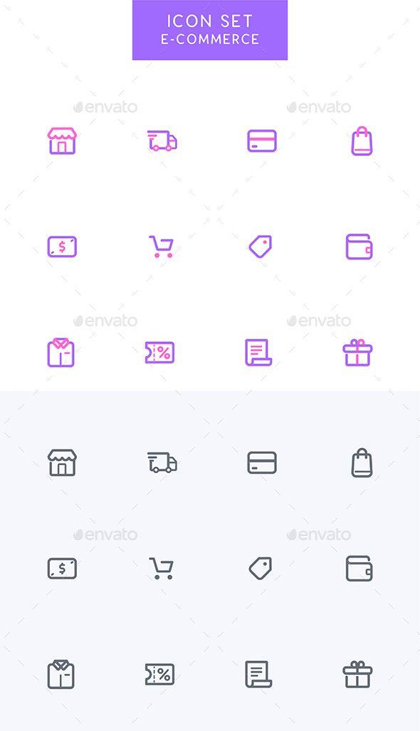 Ecommerce - Online Shopping Icons Set - Technology #Icons
