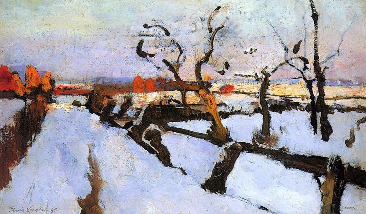 Snow Study Sun Floris Verster (1861 - 1927)