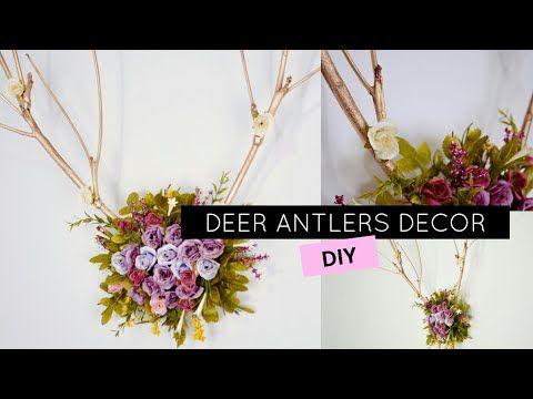DIY DEER ANTLERS PINTEREST DECOR - CHIFRES DE CERVO NA DECOR! - YouTube