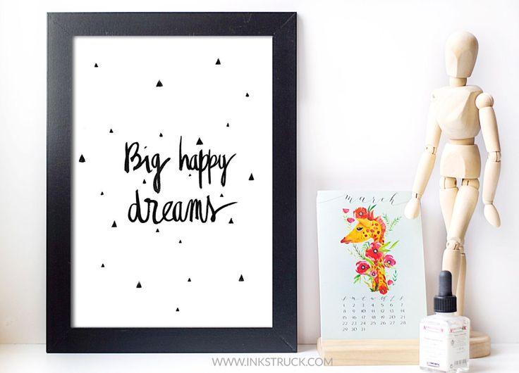 Modern Brush lettering+office decor print
