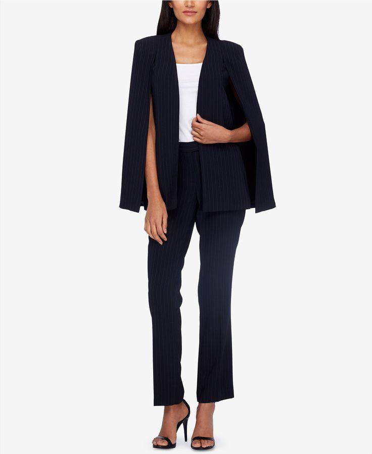 Tahari ASL Cape-Blazer Pantsuit - Suits & Suit Separates - Women - Macy's