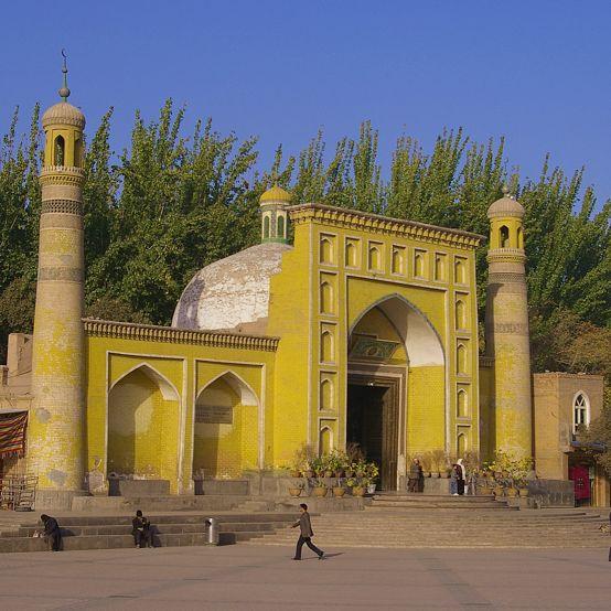 Id Kah mosque in Kashgar.