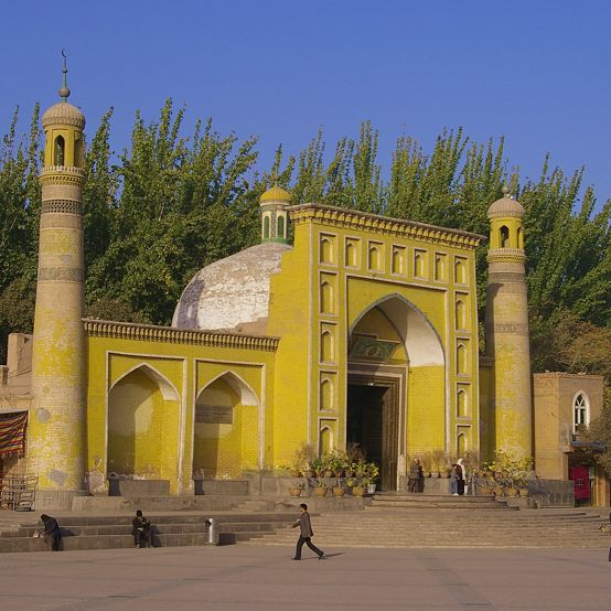 Id Kah mosque in Kashgar.