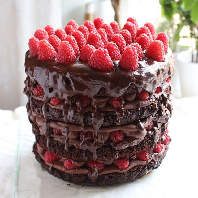 Kulinaari: Kulinaarin upea suklaatryffeli-vadelmakakku