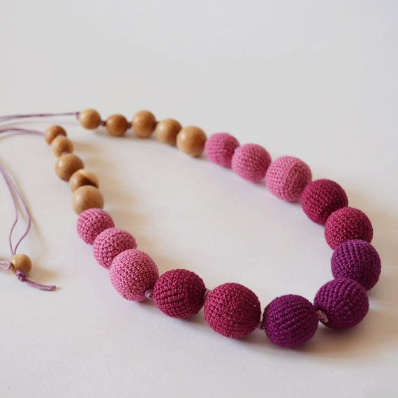 Nursing necklace is 100% handmade. We use only natural  materials, which are absolutely safe. When your baby's gums will start bothering your child, https://www.etsy.com/shop/KattyMarket