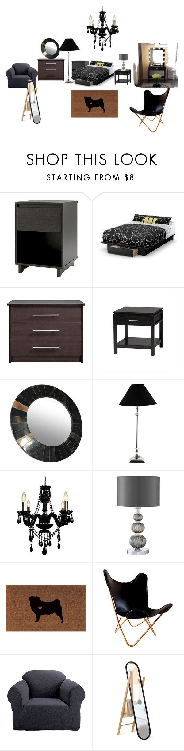 """""""Budget bed room"""" by lillie-massey on Polyvore featuring interior, interiors, interior design, home, home decor, interior decorating, Room Essentials, South Shore, Linon and Lene Bjerre"""
