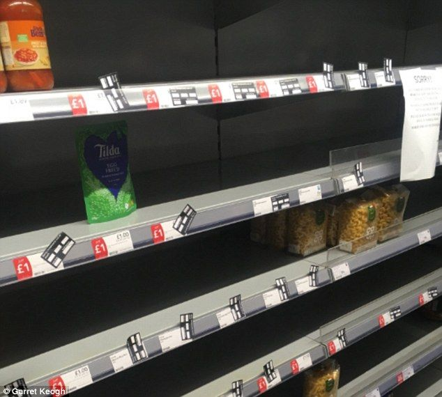 Co-op supermarkets left empty due to IT issue -  Signs in Co-op branches in south-east England blame lack of stock on IT error  The issue halted deliveries from a depot in Thurrock the Co-op has said  Some branches however blame the lack of stock on the recent bad weather  By Imogen Blake For Mailonline  Published: 11:19 EDT 15 March 2018 | Updated: 11:30 EDT 15 March 2018  Shoppers were left baffled after an IT issue led to rows of empty shelves at Co-op stores.  Signs have appeared in…
