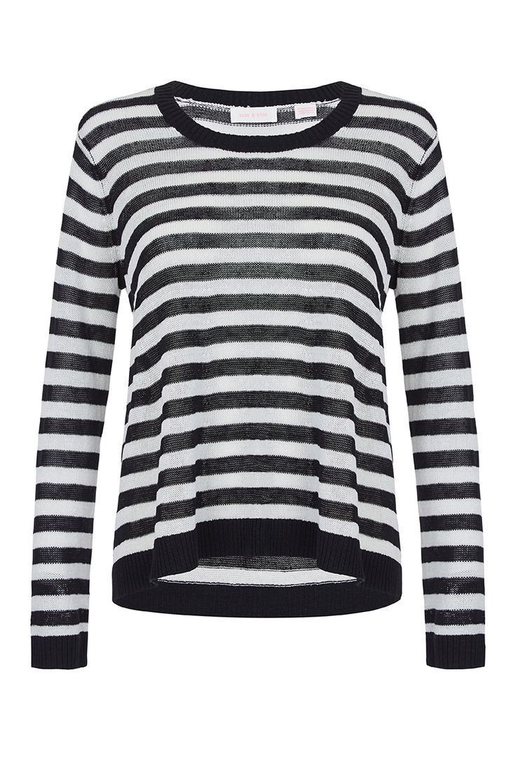 #sassandbide   ANY SECOND NOW knit   #stripe #blackandwhite #monochrome #knit