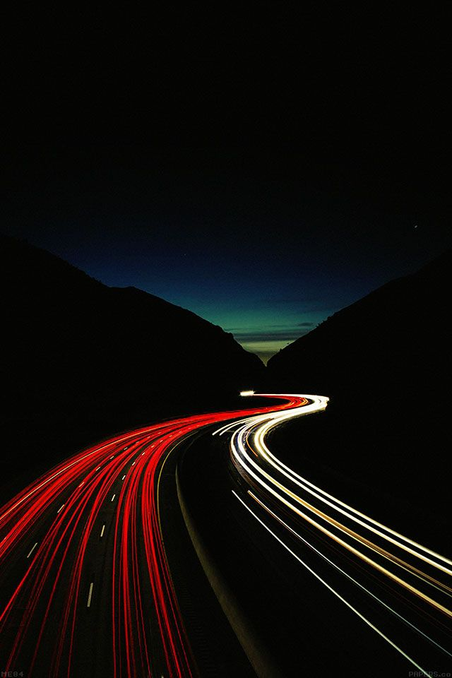 FreeiOS7 - me84-street-car-dark-lights-night - http://bit.ly/1rXnH9S - freeios7.com