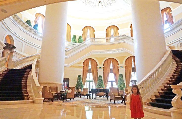 Lobby stairs - Four Seasons Hotel Macau