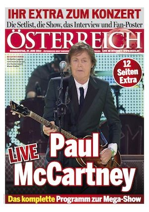 Paul McCartney Extra in ÖSTERREICH