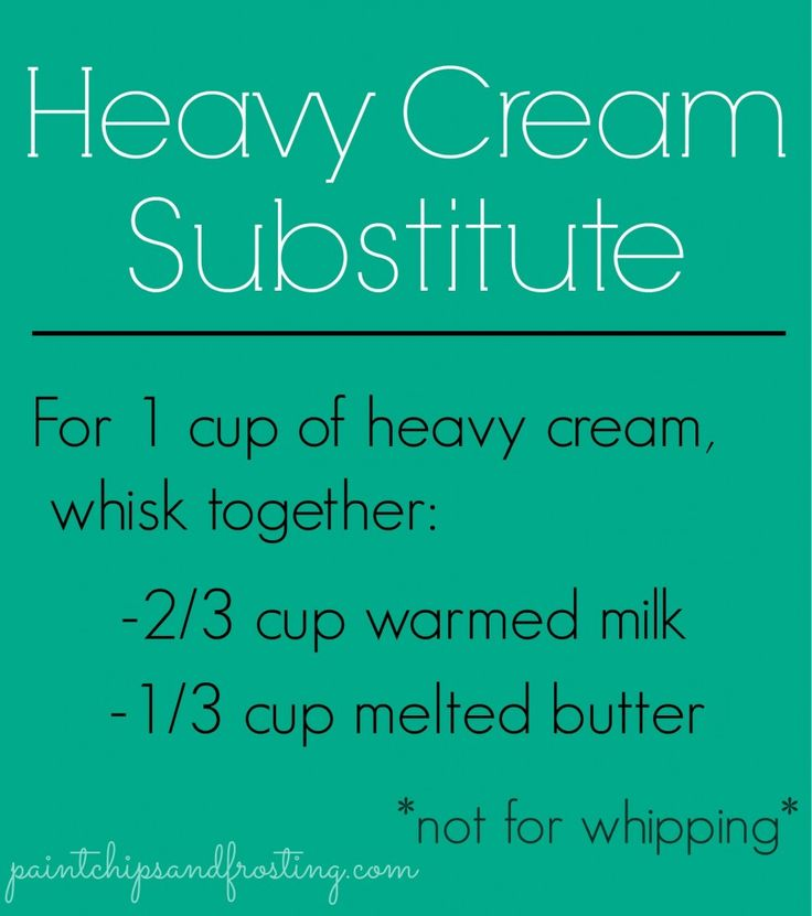 Substitution for whipping cream