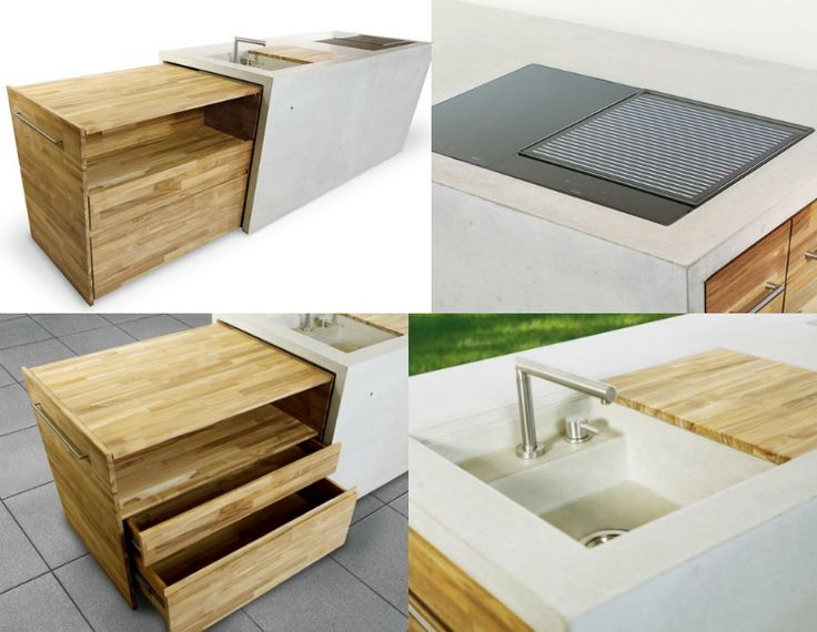 Exklusive Gartenmoebel Trends 2016 Beton Holz Kücheninsel Design