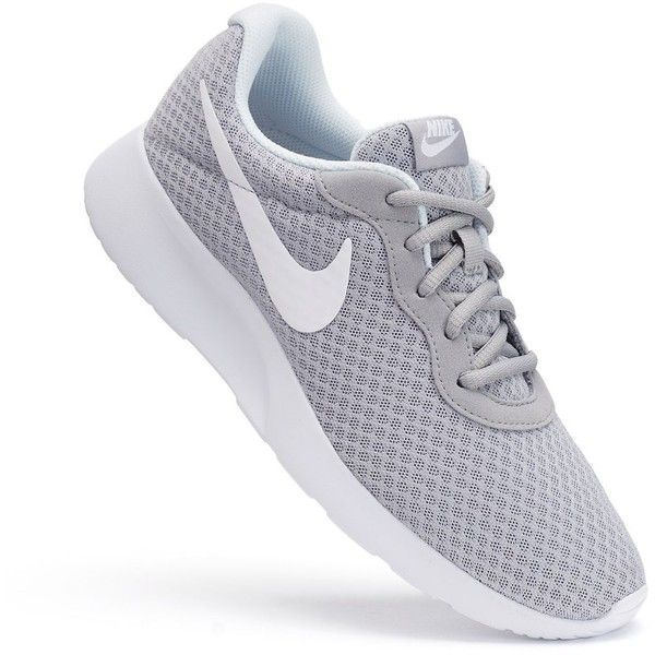 Nike Tanjun Women's Athletic Shoes, Size: 7.5, Grey (Charcoal) ($60) ❤ liked on Polyvore featuring shoes, athletic shoes, grey, light weight shoes, charcoal gray shoes, grip shoes, nike and nike shoes