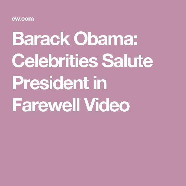 Barack Obama: Celebrities Salute President in Farewell Video