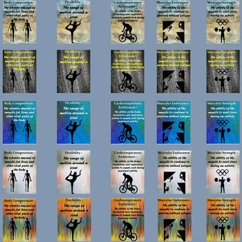 PE Posters - Health Related Fitness Components Poster Pack ...