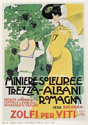 """Anno: 1905 Soggetto: """"Miniere Solfuree, Trezza – Albani Romagna"""" -Stampa Chappuis, Bologna Provenienza: Raccolta Salce, Treviso"""