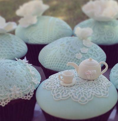 Teapot & Lace Cupcakes