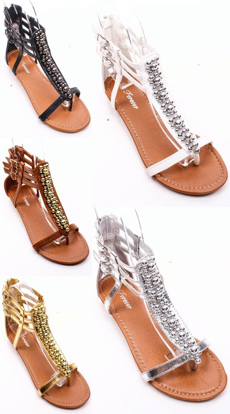 BEADED DETAILING STRAPPY THONG LOW HEEL SANDALS! Find others like this here -http://studentrate.com/fashion/fashion.aspx