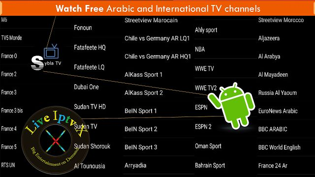 Sybla TV apk Live TV Apk For Watch Arabic and international TV channels On Android Device   Live TV Android Apk[ Iptv APK] : Sybla TV APK - Live TV Channels and Sport APK- In this apk you can watch TV Arabic and international TV channels  Sports Channels
