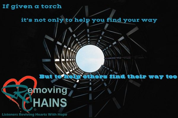 If given a torch it's not only to help you find your way, but to help others find theirs too! http://clc.li/b0R #RemovingChains Meme by Ark of Hope For Children