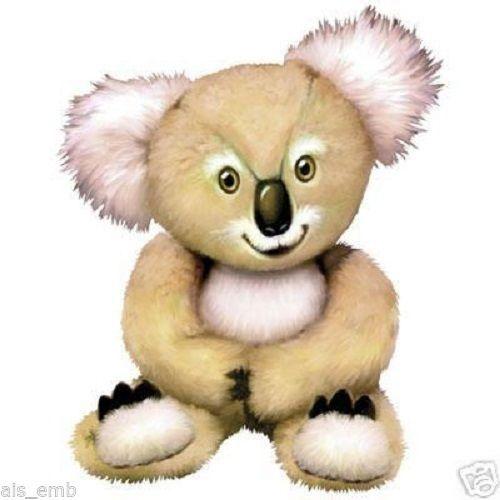 Koala Bear Cub  T SHIRT, Sweatshirt, Quilt Fabric Block  229a by AlwaysInStitchesCo on Etsy