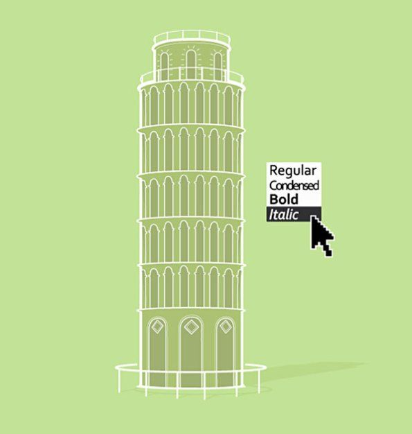 Nathan Pyle: Pisa italic