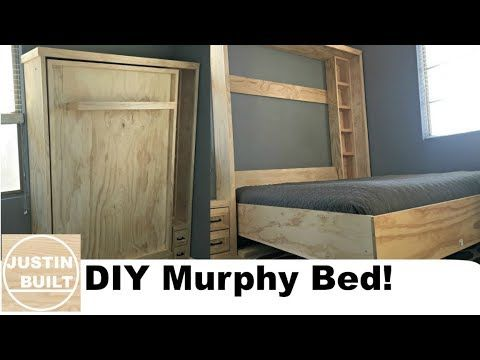 17 Diy Murphy Bed Without Expensive Hardware Youtube