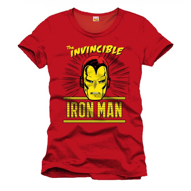 Tee-Shirt Rouge The Invincible Iron Man