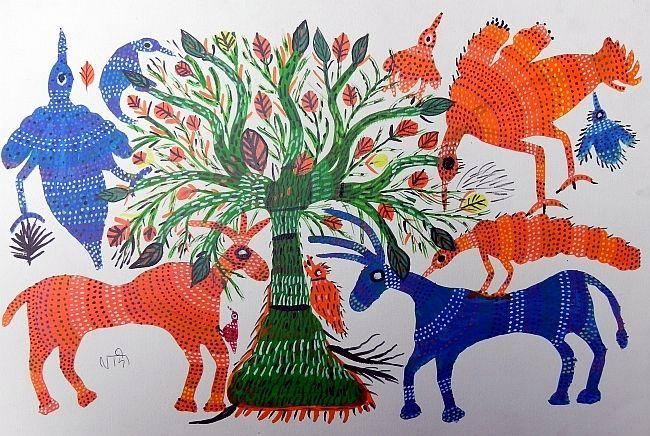 BHIL ART BY LADOO BAI