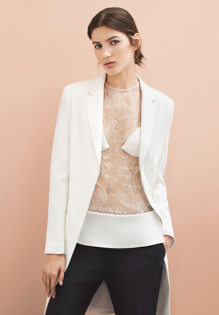 Valery Kaufman wears the La Perla Leisuring jacket on the lace top