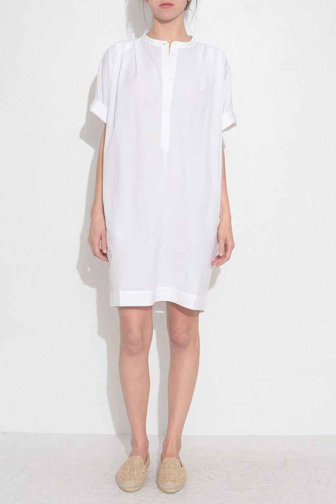 WHITE LONG SHIRT DRESS From ShopHeist.com!