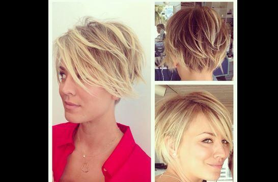 Kaley's short hair style