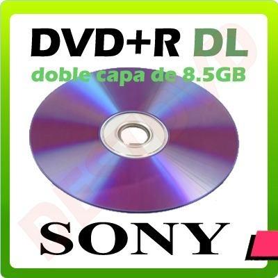 Dvd r Imprimible Doble Capa Virgen Sony 8.5 Gb / 215min - $ 1.890