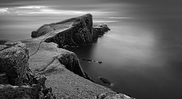 Scotland - Lighthouse On Isle Of Skye from $15  scotland,lighthouse,lighthouse art,for sale,scottish landscape,cliff,rock,uk,art,prints,photography,isle of skye,isle,coast,neist point,scotland landscape,cloudy,highlands,sea,nature,coastline,landscape,black and white,western landscape,black and white,photography,nature,landscapes,prints,landscape,beautiful,for sale,buy,home decor,interior,design,ideas,livingroom