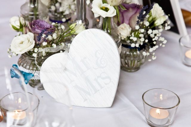 bridal table - our table decoration