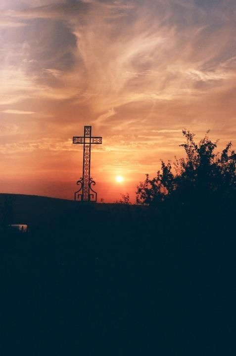 Sunset in the village of Taizé, Burgundy, France.