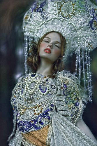 A.M.Lorek Photography encrusted pearl and lace embroidery