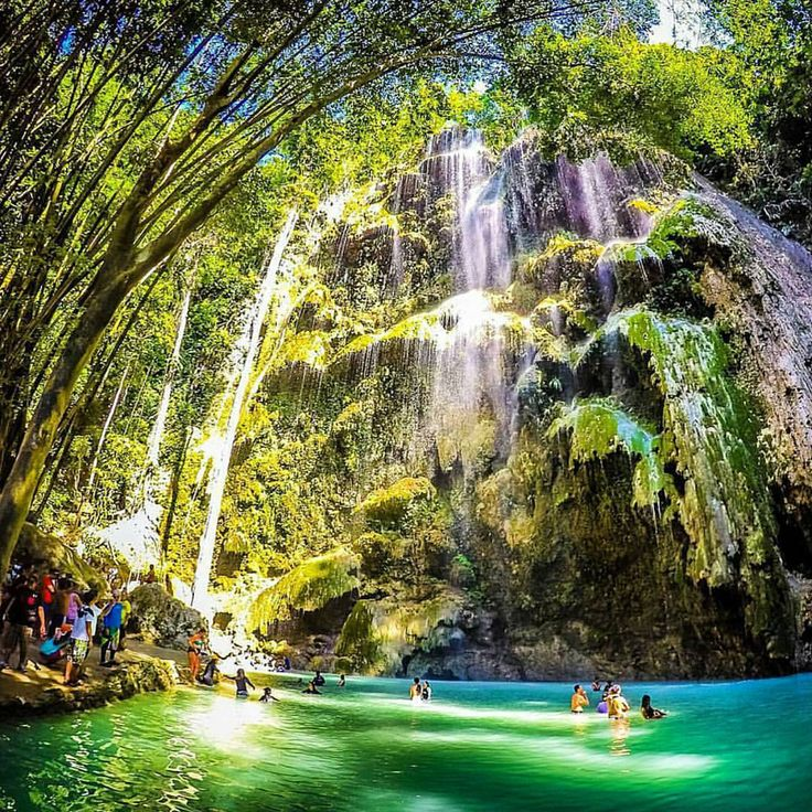 I used this pin to demonstrate the different tourist attractions in the Philippines. I also used this to show they're in touch with their land, despite the fact that their main trade is technology. Tumalog Falls, Cebu, Philippines