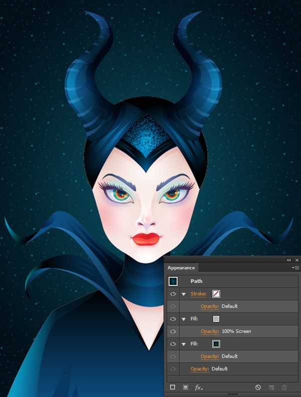 What You'll Be CreatingIn this tutorial we will discover how to draw a bewitching stylized portrait of Maleficent in Adobe Illustrator. We'll be using various effects, such as Blur effect for soft...